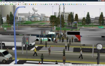 Paramics includes over 50 animated pedestrian model variations